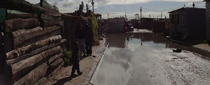 Cape Town rains have led to flooding in Kosovo informal settlement. Picture: EWN.