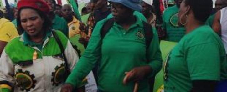 FILE: Members of mining union, Amcu. Picture: EWN/Mia Lindeque