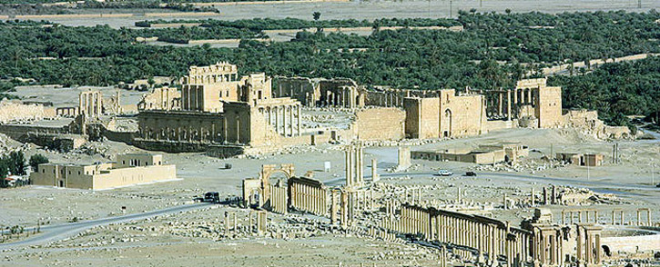 The ancient Syrian city of Palmyra is on the Unesco's World Heritage Site danger list. Picture: Zaher Kadour/Wikipedia.