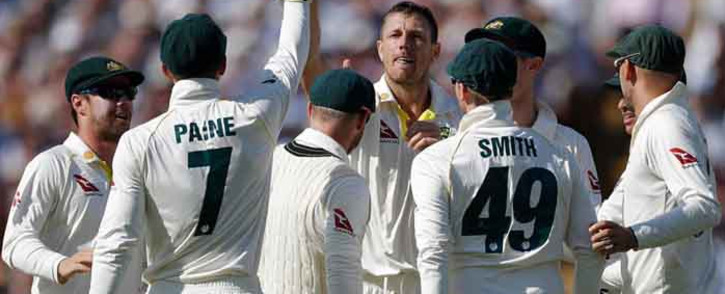 The Australian team competes against England in the Ashes Test at Edgbaston. Picture: Twitter/@CricketAus