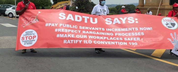 FILE: Sadtu members joined other unions in a march to the Unions Buildings on 4 December.  Picture: @_cosatu.