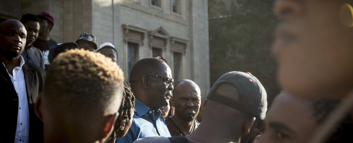 Zwelinzima Vavi arrives at Wits University to address students after he was invited by the FMF movement. Picture: Thomas Holder/EWN
