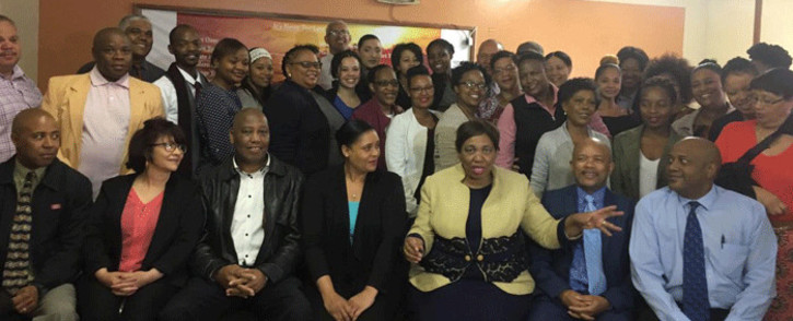 Basic Education Minister Angie Motshekga at Reiger Park Secondary School on 23 October 2018. Picture: @DBE_SA/Twitter
