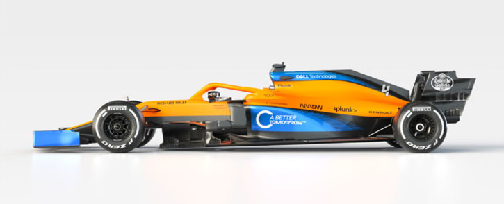 The MCL35 Formula One car. Picture: @McLarenF1/Twitter