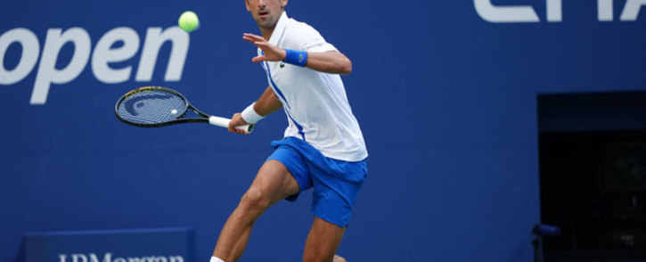 Novak Djokovic in action at the US Open on 6 September 2020. Picture: @usopen/Twitter