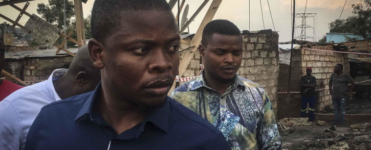 Self-proclaimed prophet Shepherd Bushiri visited Alexandra following a fire earlier this week which burnt more than 100 shacks to the ground. Photo: Ahmed Kajee/EWN