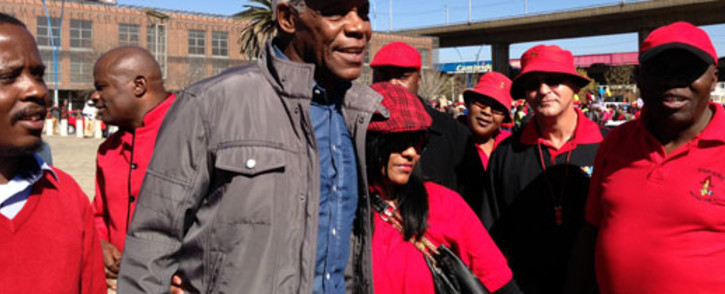 US actor Danny Glover attended a Popcru march in the Johannesburg city centre on 30 May 2013. Picture: Sebabatso Mosamo/EWN.