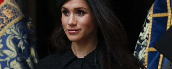 FILE: Meghan Markle after attending a service of commemoration and thanksgiving to mark Anzac Day in Westminster Abbey in London on 25 April 2018. Picture: AFP.