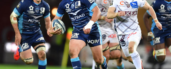 FILE: In this file photo taken on 2 March 2019, Montpellier's South African center Francois Steyn (C) runs with the ball during the French Top 14 rugby union match between Montpellier and Bordeaux-Begles at the GGL stadium in Montpellier, southern France. Picture: AFP
