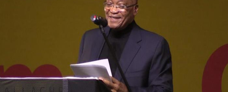 President Jacob Zuma speaking at 25th National congress in Midrand. Picture: Kgothatso Mogale/EWN