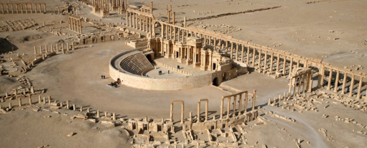 FILE: An aerial view shows a part of the ancient city of Palmyra. Picture: AFP.