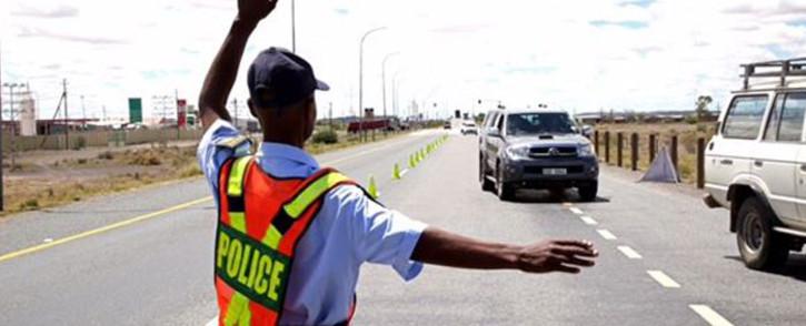 FILE: A roadblock in Beaufort West. Picture: Moeketsi Moticoe/EWN
