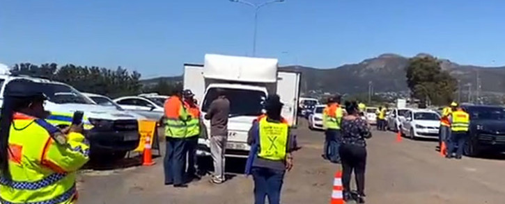 Officials pictured in Paarl, in the Western Cape, where the 2019 festive season safety campaign was launched on 5 December 2019. Picture:  Shamiela Fisher/EWN.