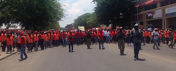 EFF supporters from 36 wards are marching to the Madibeng Mayor's office to demand basic services. Picture: Lesego Ngobeni/EWN.