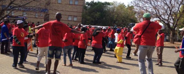 Numsa members during a strike in northern Johannesburg on 9 September 2013. Picture: Mbali Sibanyoni/EWN