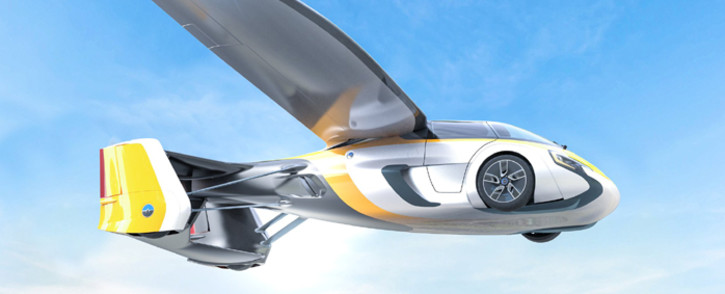 A general view of AeroMobil's flying machine. Picture: @aeromobil/Twitter.