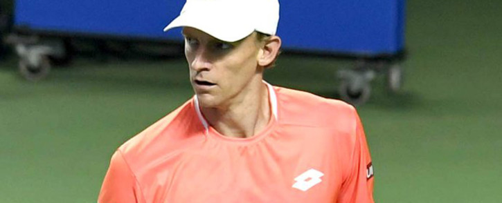Kevin Anderson reacts after beating Laslo Djere to reach into the quarter-finals of the ATP Maharashtra Open. Picture: @MaharashtraOpen/Twitter.