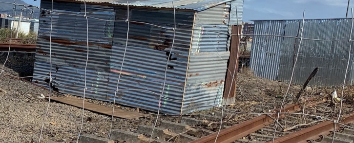 An informal settlement has sprung up on Metrorail's central in Cape Town and the residents here are refusing to leave until government finds suitable land for them. Picture by Kaylynn Palm/Eyewitness