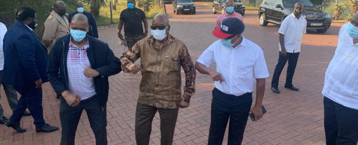 ANC secretary general Ace Magashule visited former President Jacob Zuma in Nkandla on 15 April 2021. Picture: Supplied.