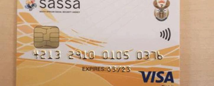 A Sassa card. Picture: OfficialSASSA/Twitter