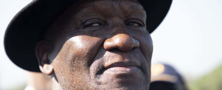 FILE: Police Minister Bheki Cele briefing the media at Loftus Versveld Stadium on 23 May ahead of the presidential inauguration on 25 May 2019. Picture: Christa Eybers/EWN