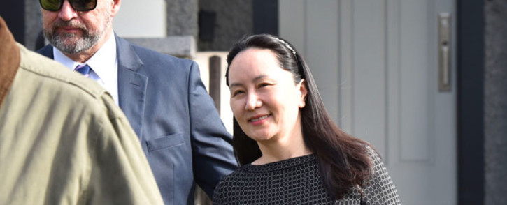 FILE: Huawei Chief Financial Officer, Meng Wanzhou, leaves her residence to attend British Columbia Supreme Court, in Vancouver, on 8 May 2019. Picture: AFP
