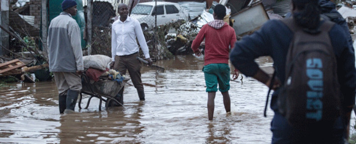 Residents of Mamelodi, northeast of Pretoria, have been hit by floods as heavy rains continue in the Gauteng province. Picture: Sethembiso Zulu/EWN.
