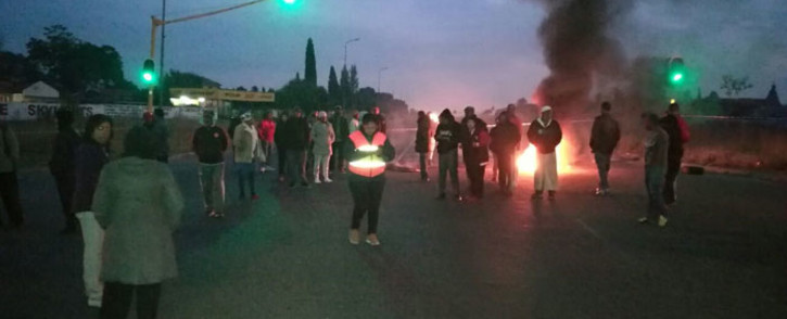 FILE: Residents in Lenasia South protest against land invasions. Picture: Mia Lindeque/EWN