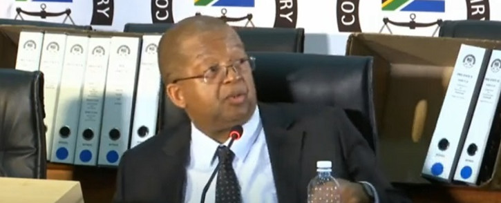 A screenshot of former Free State Housing HOD Nthimotse Mokhesi at the state capture commission on Monday, 28 September 2020. Picture: SABCNews/Youtube
