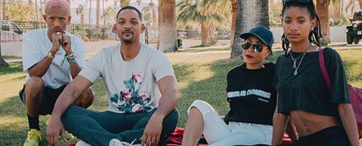 Will Smith and his Jada Pinkett Smith pictured with their children Jaden and Willow. Picture: instagram.com/jadapinkettsmith