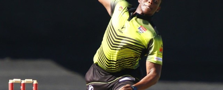 The Warriors' Sisanda Magala took 3/28 in the One Day Cup against the Lions. Picture: Twitter/@OfficialCSA