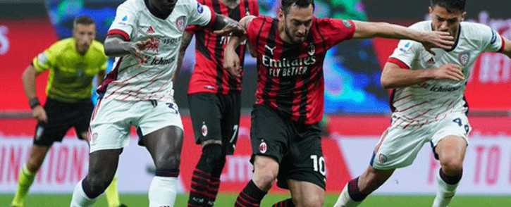 AC Milan drew 0-0 against Cagliari on 16 May 2021. Picture: acmilan/Twitter.