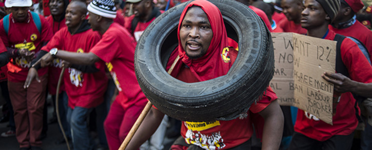 FILE: Numsa is planning pickets, lunch-hour demonstrations and general stayaways in response to what it's claimed is the decline of state owned enterprises, flouting of tender processes and denialism. Picture: AFP