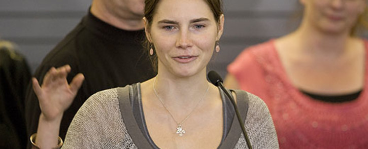 Italy's top court on 26 March 2013 overturned the 2011 acquittal of American student Amanda Knox. Picture: AFP.