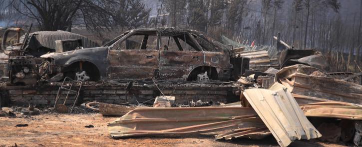FILE: A SANPark homes gutted in a blaze in George. Picture: Bertram Malgas/EWN