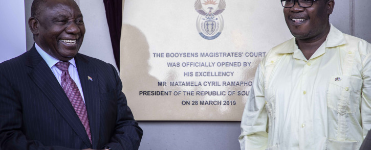 President Cyril Ramaphosa opens the Booysens Magistrates Court on 28 March 2019. Picture: Abigail Javier/EWN