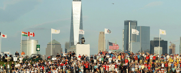 Participants at the 2017 Presidents Cup at Liberty National. Picture: Twitter/@PresidentsCup