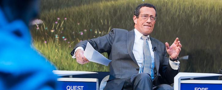 CNN anchor Richard Quest at the 2019 World Economic Forum in Davos. Picture: World Economic Forum