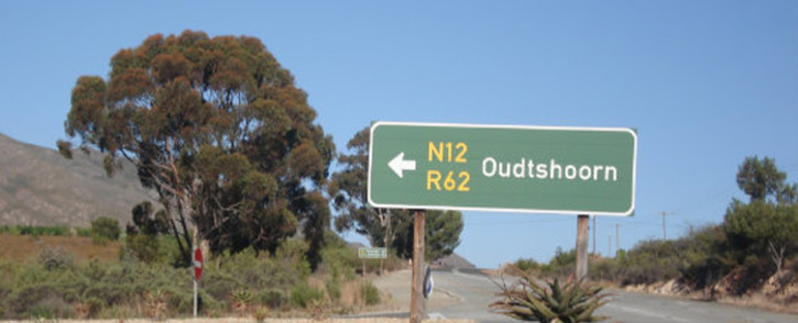 A road sign to Oudtshoorn. Picture: Facebook.