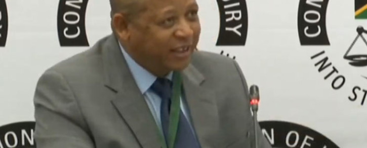 A screengrab of Joseph Jackson giving evidence at the state capture inquiry on 24 January 2020.