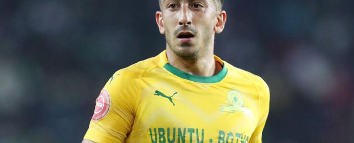 Mamelodi Sundowns' striker Emiliano Tade. @Masandawana/Twitter