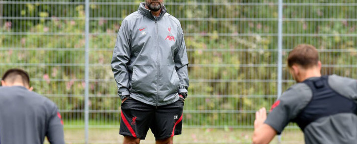 Liverpool manager Jurgen Klopp oversees a training session. Picture: @LFC/Twitter