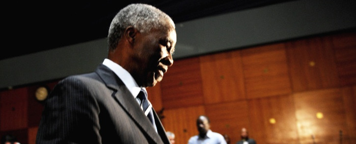Former president Thabo Mbeki is seen during a break in proceedings at the Seriti Commission of Inquiry where he was testifying in Pretoria, 17 July 2014. Picture: Sapa.
