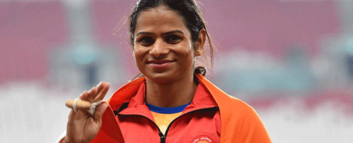 FILE: Indian gender-row sprinter Dutee Chand. Picture: AFP.