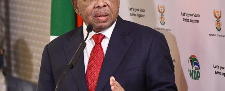 FILE: Higher Education, Science and Innovation Minister Dr Blade Nzimande on 9 June 2020 briefed the media in Pretoria. Picture: @GovernmentZA/Twitter