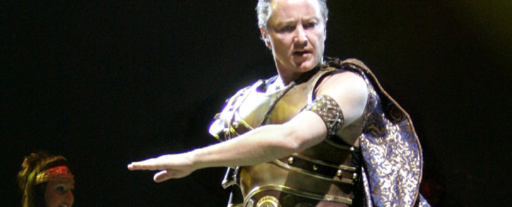 Celtic Tiger, superstar of Celtic dance, Michael Flatley performs in Helsinki. Picture: AFP.