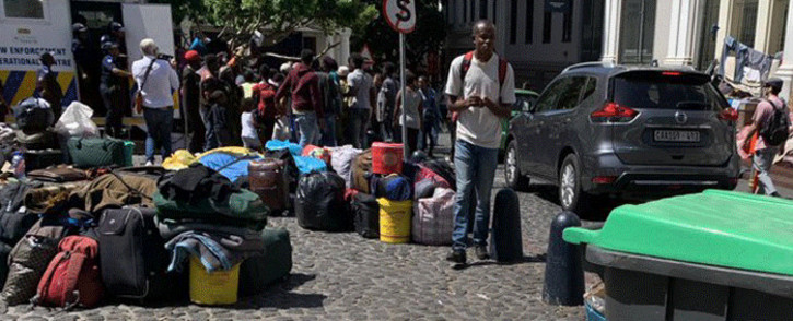 Hundreds of men, women and children who have been living in and around the Methodist Chapel were ready to move on 18 February 2020. Picture: Kaylynn Palm/EWN.