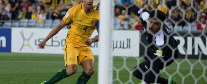 Australian forward Tim Cahill (L). Picture: Twitter.