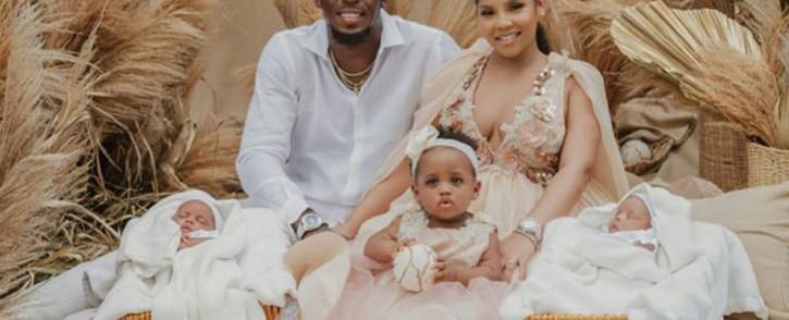 Jamaican Olympic gold medallist, Usain Bolt, his partner, Kasi Bennett, and their three children. Picture: @usainbolt/Twitter