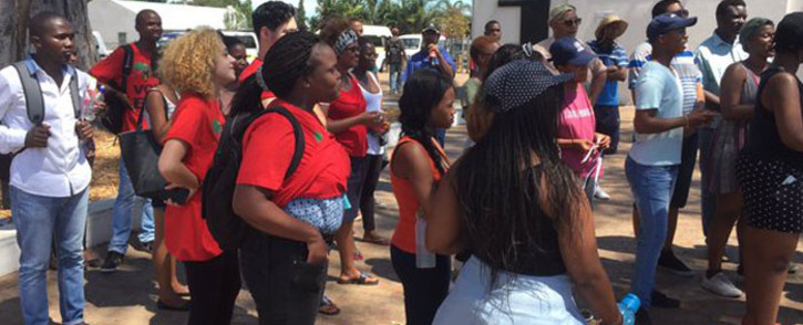 """FILE: Maties students say they'll perform a """"cleansing ceremony"""" to """"educate"""" university management on their culture. Picture: Siyabonga Sesant/EWN."""